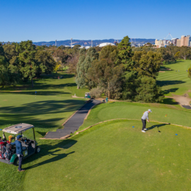 Virtual Tour North Adelaide Golf Course Aerial Flyover Drone
